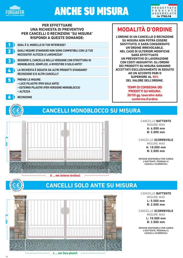 Misure Standard Cancello A Due Ante.Cancelli Recinzioni Forgiafer Varese Zoni S P A